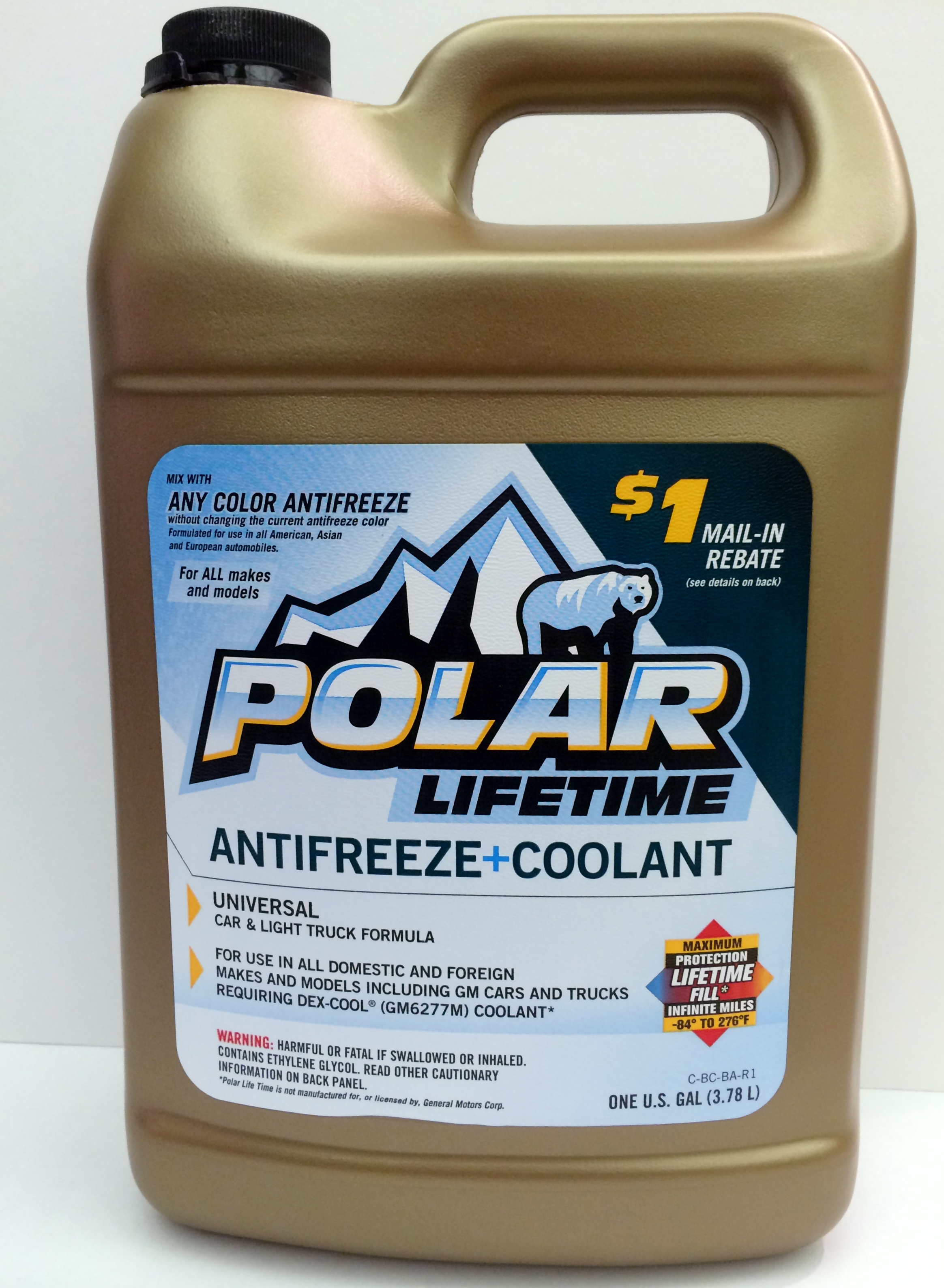 polar lifetime antifreeze coolant pol74 meadows auto supply. Black Bedroom Furniture Sets. Home Design Ideas